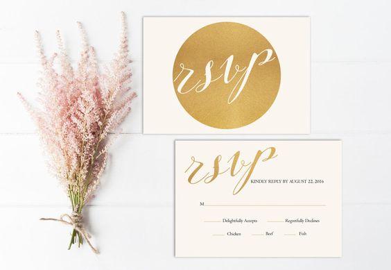 esküvői meghívó - arany