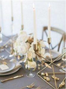 esküvői stílus - ezüst arany mood board 3