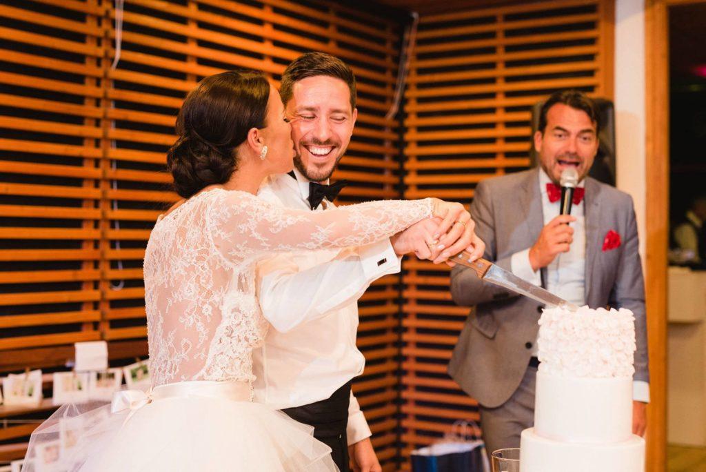 igazi esküvő - Niki és Sanyi torta
