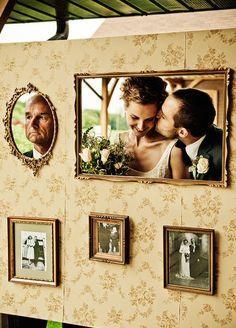 esküvői kreatív fotóhátterek - fali képkeretek