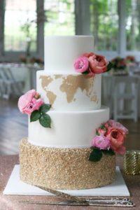 esküvői stílus - utazás koncepció torta