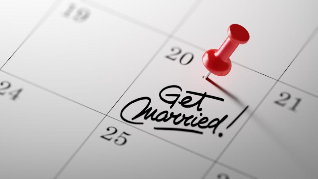 esküvőszervezés - idő