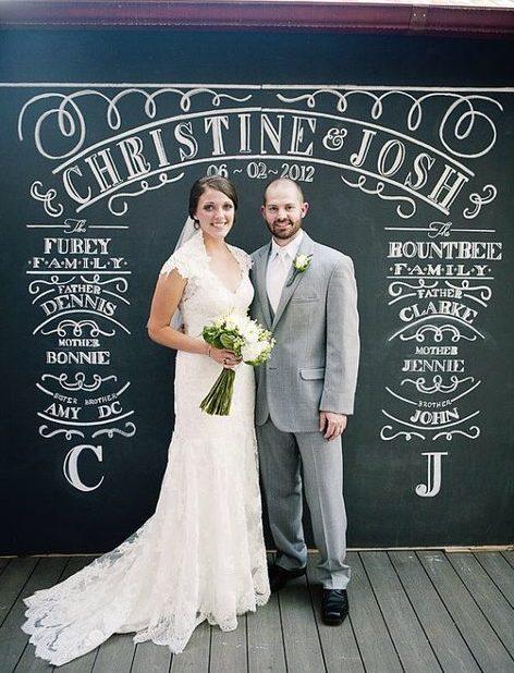 esküvői kreatív fotóhátterek - kréta tábla 1