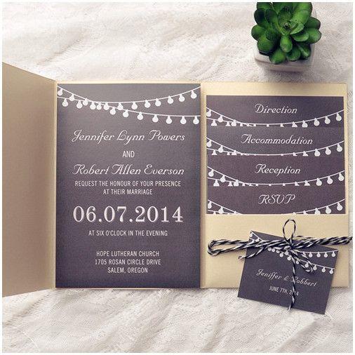 esküvői meghívó - madzaggal 2