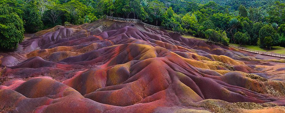 nászút ősszel - mauritius hétszínű föld