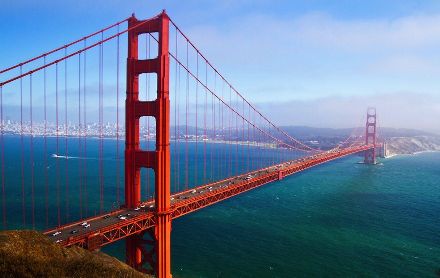 nászút ősszel - golden gate híd