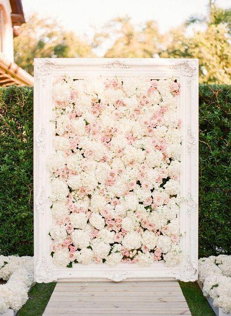esküvői kreatív fotóhátterek - kerti virágfal 2