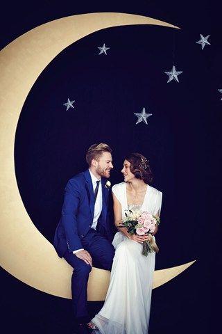 esküvői kreatív fotóhátterek - tematikus hold