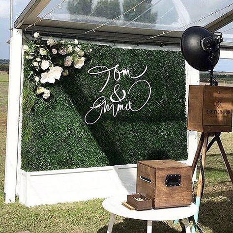 esküvői kreatív fotóhátterek - élő zöld háttér