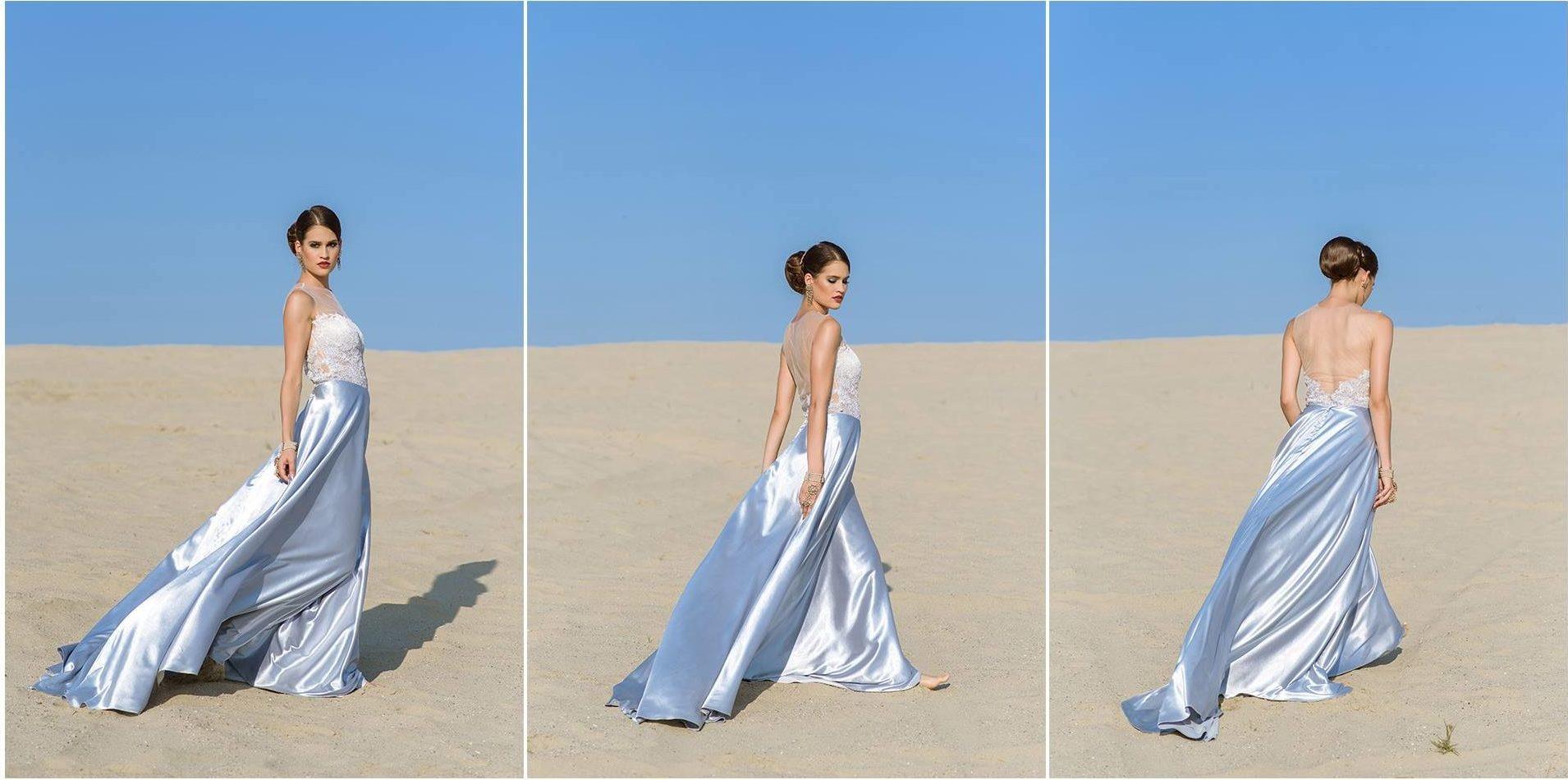 Nagy Ágota - Oázis menyasszonyi ruha - szatén 3 kép