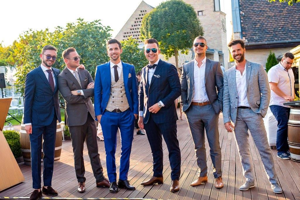 Borzi Vivien esküvő - vőlegény és a fiúk