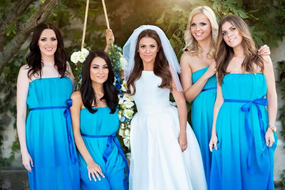 Borzi Vivien esküvő - koszorúslányok
