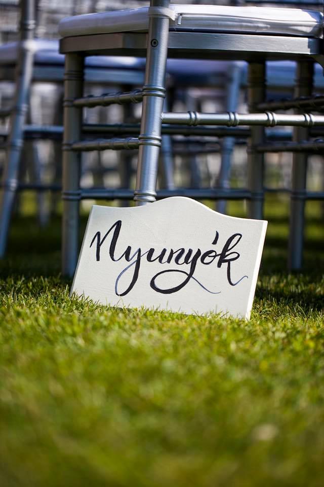Borzi Vivien esküvő - tábla