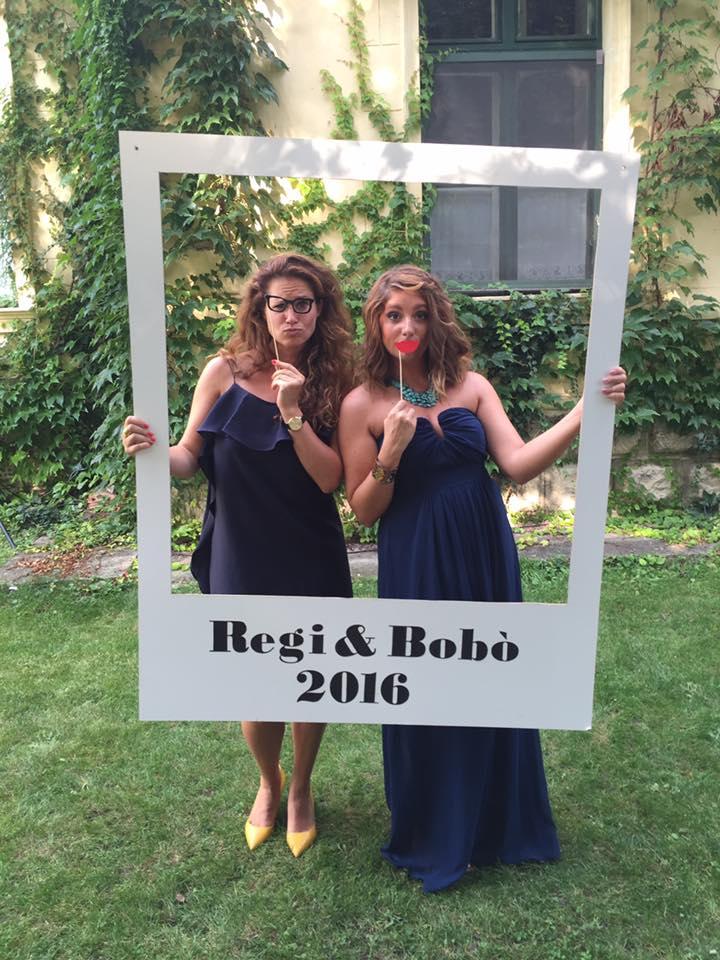 esküvői kreatív fotóhátterek - polaroid keret