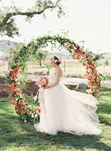 esküvői kreatív fotóhátterek - kerti bohém kör
