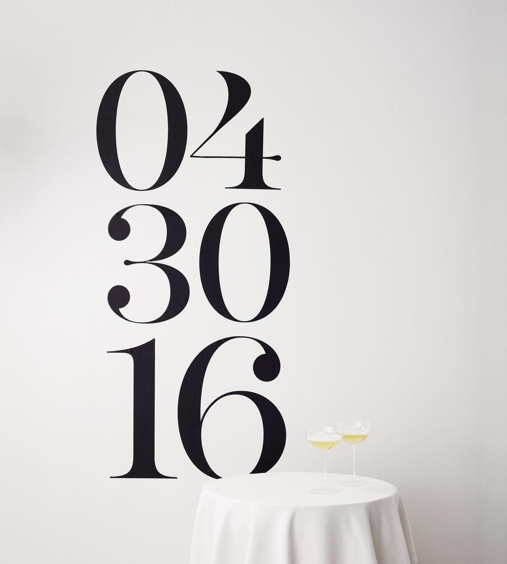esküvői kreatív fotóhátterek - felirat dátum