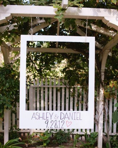 esküvői kreatív fotóhátterek - polaroid keret 3