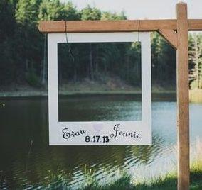 esküvői kreatív fotóhátterek - polaroid keret 2