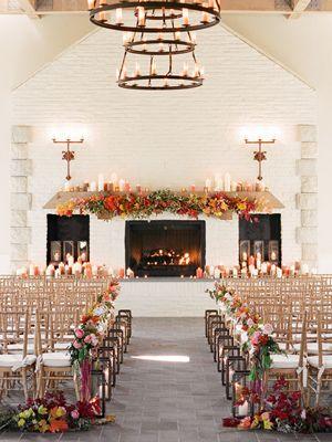 őszi házasságkötő terem kandallóval