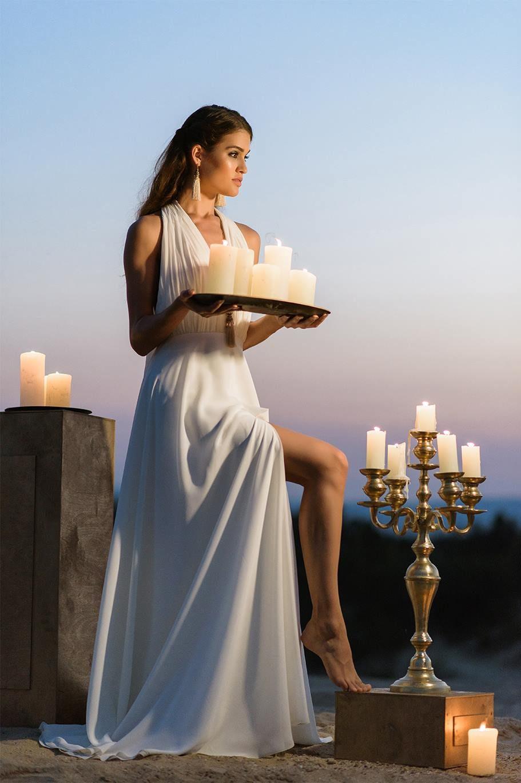 Nagy Ágota - Oázis menyasszonyi ruha kivágott - gyertyák