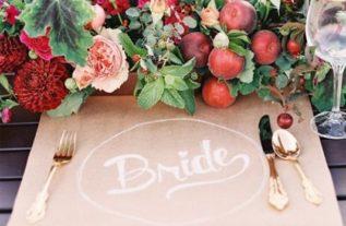 őszi esküvői dekoráció 2