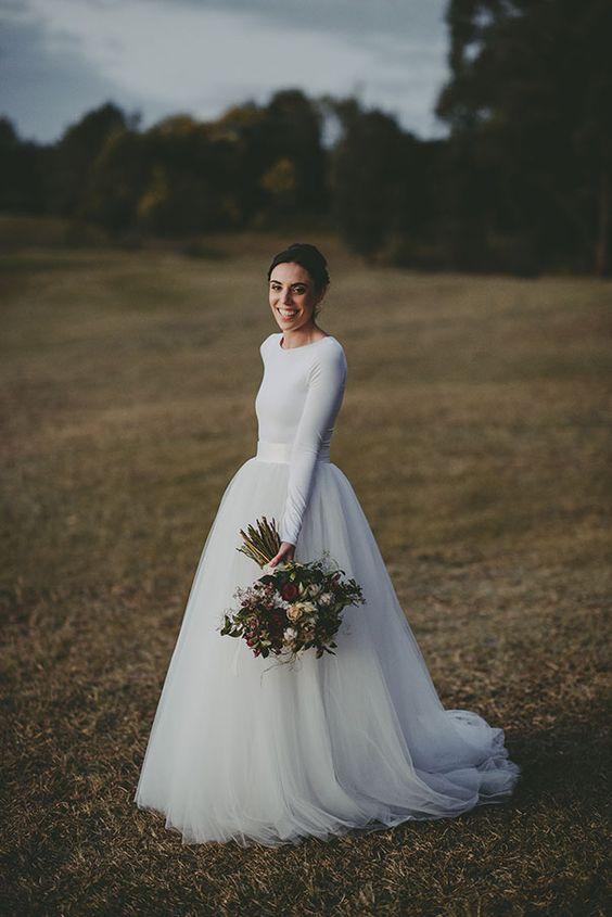 őszi menyasszonyi ruha