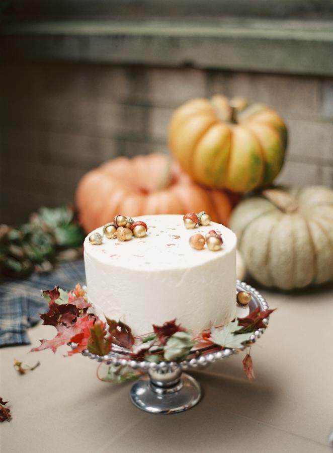 őszi esküvői torta