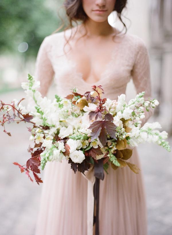 őszi menyasszonyi csokor fehér