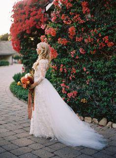 őszi menyasszonyi ruha csipke