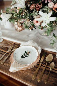 őszi esküvő teríték