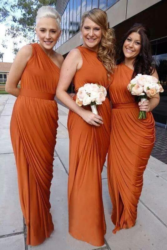 őszi koszorúslány ruha barna