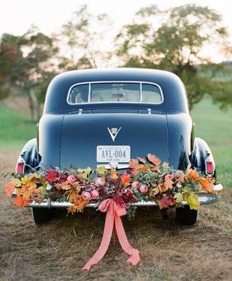 őszi egyedi esküvői dekoráció virágok