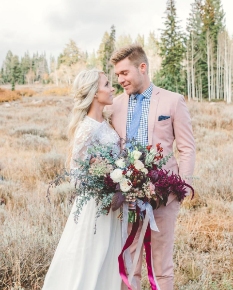 őszi esküvői fotó